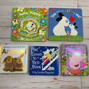 Bundle of 5 Toddler Baby Board Books Puppy Animals